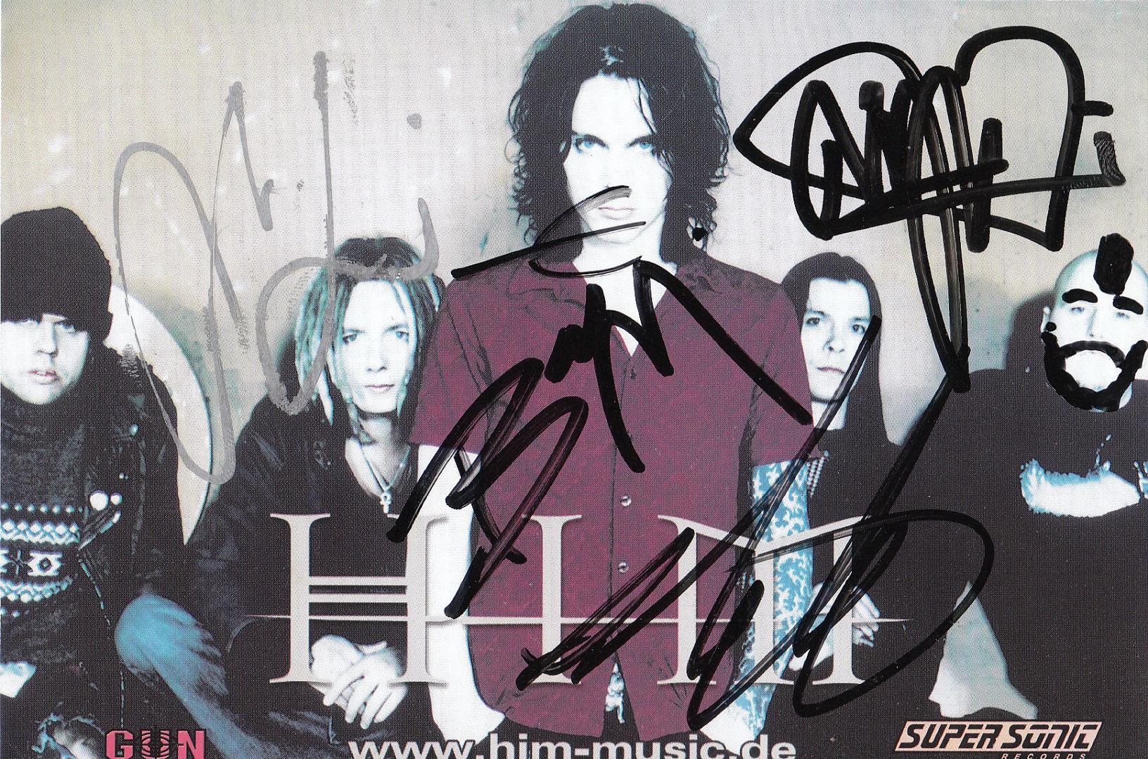 HIM Autogramm
