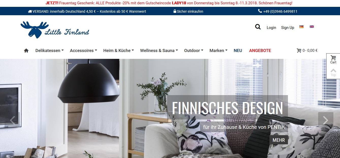 Die Startseite von Littlefinland.de