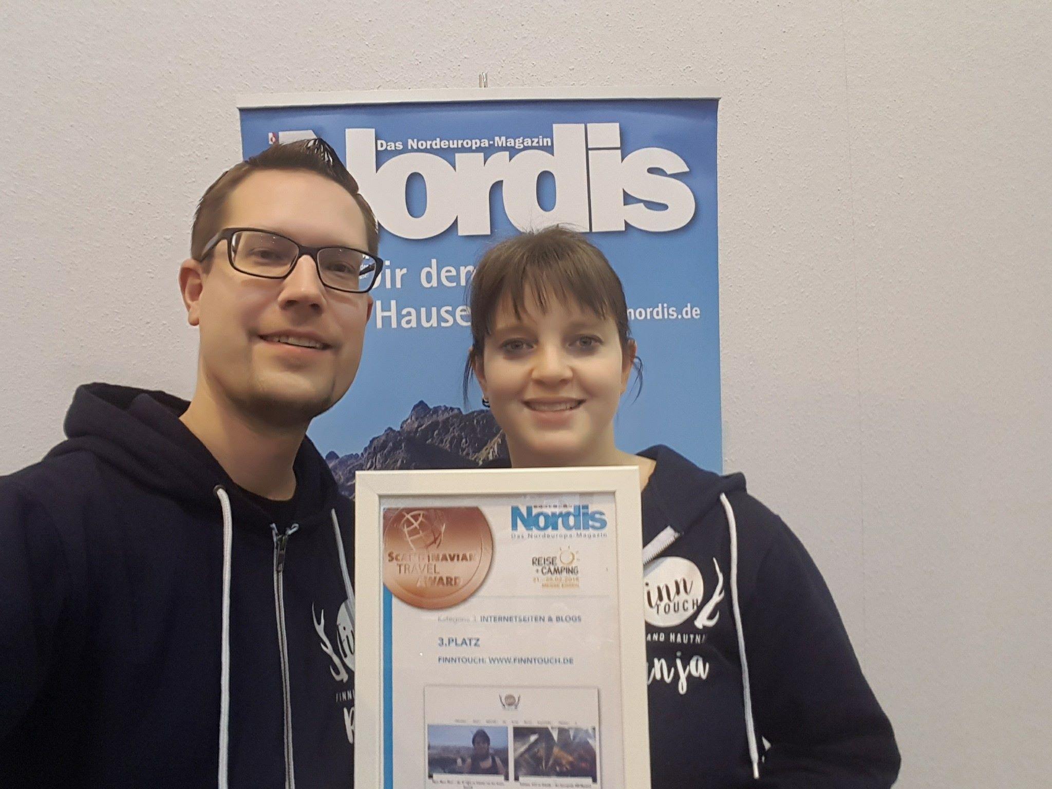 René und Tanja von FinnTouch mit dem Scandinavian Travel Award