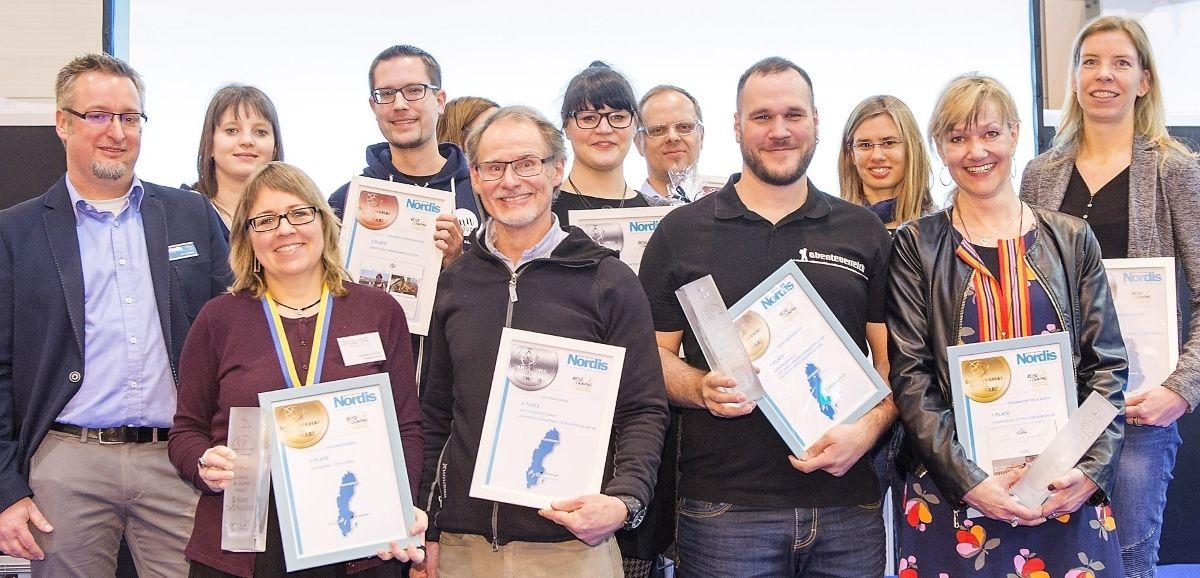 Die Preisträger des Scandinavian Travel Award 2018 auf der Messe Essen