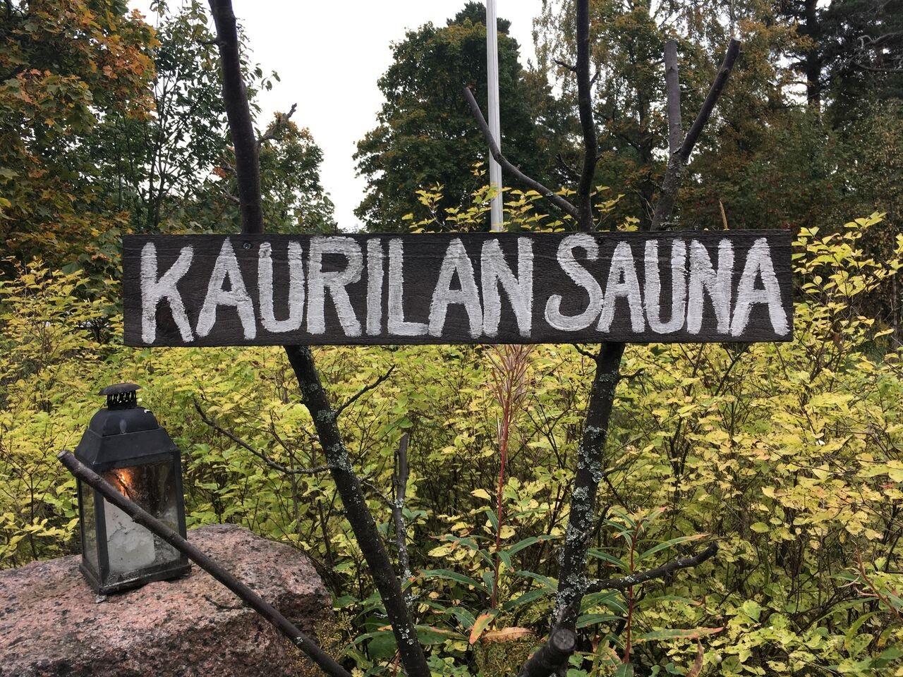 Schild Kaurilan Sauna