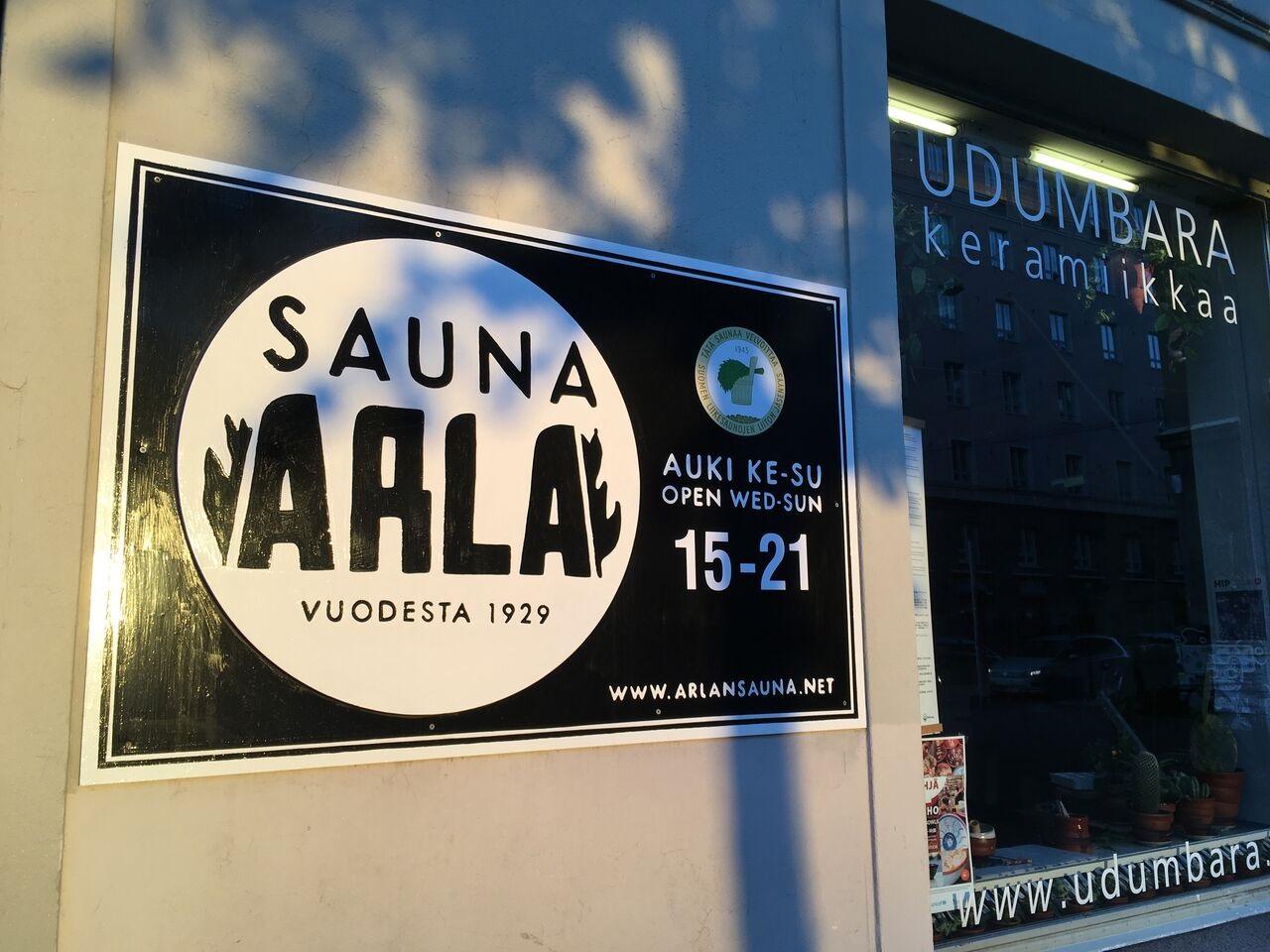Eingang Sauna Arla Helsinki