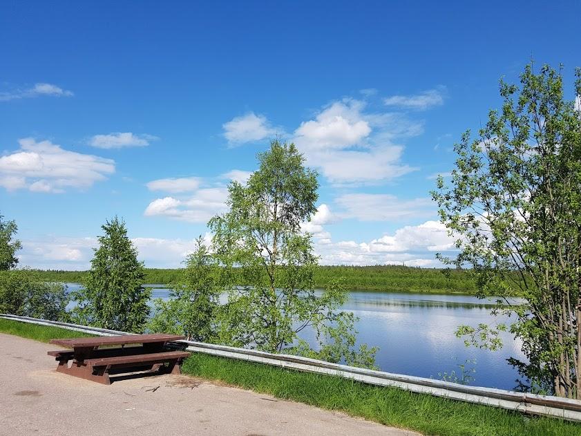 Rastplatz am Kemijoki
