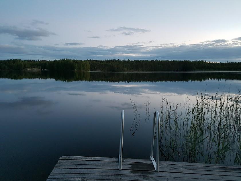 Steg am finnischen See