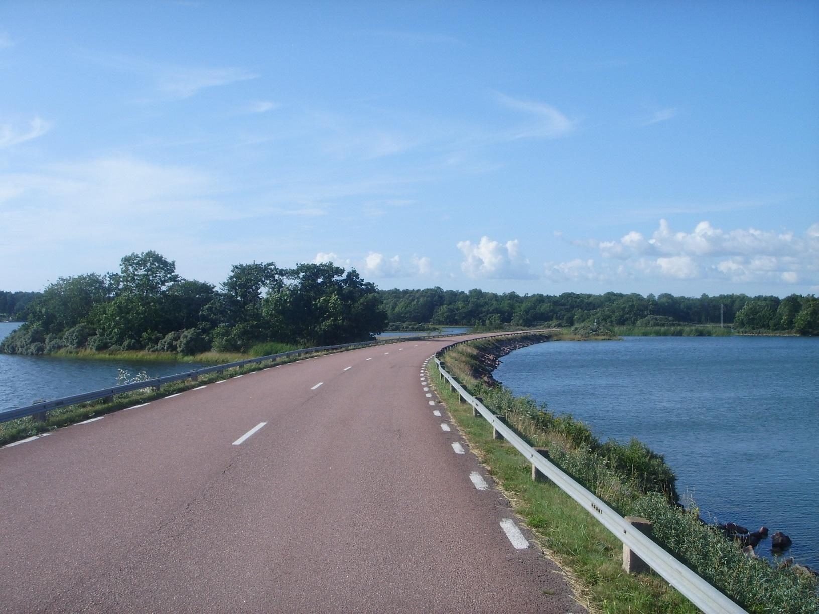 Straße auf Föglö