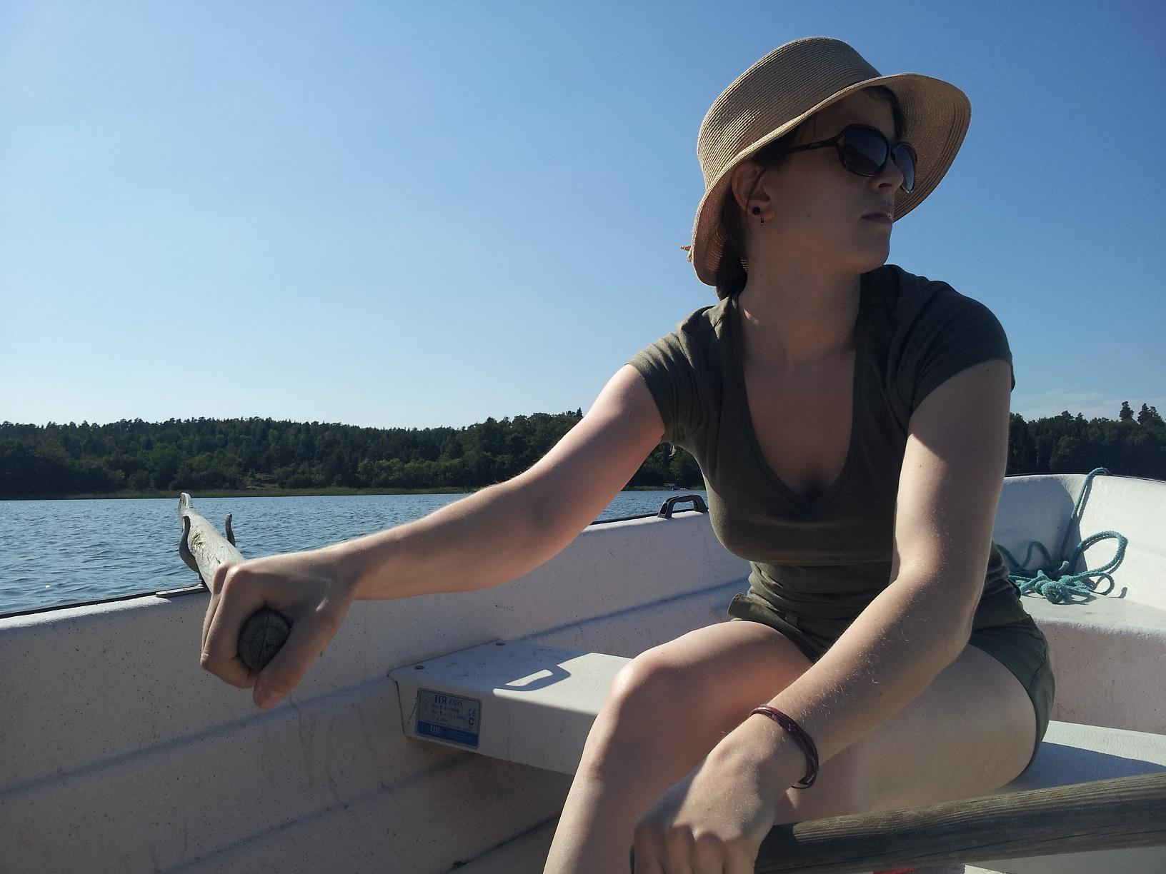 Mit dem Ruderboot auf Aland unterwegs
