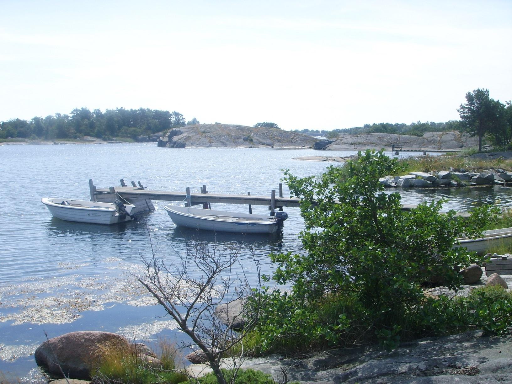 Bootssteg auf der Insel Föglö, Aland