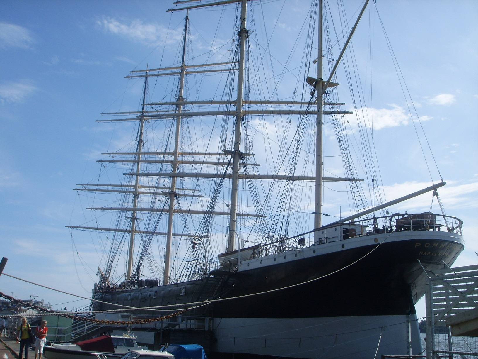Segelschiff Pommern im Hafen von Mariehamn