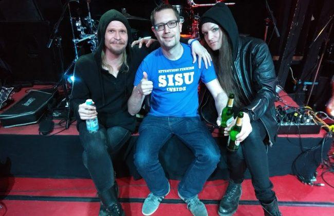 Rain Diary - Sänger Tommi, FinnTouch-René und Bassist Joni nach dem Interview