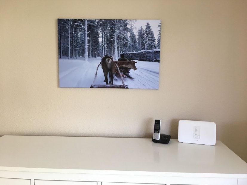Finnland Fotoleinwand Rentierschlittenfahrt