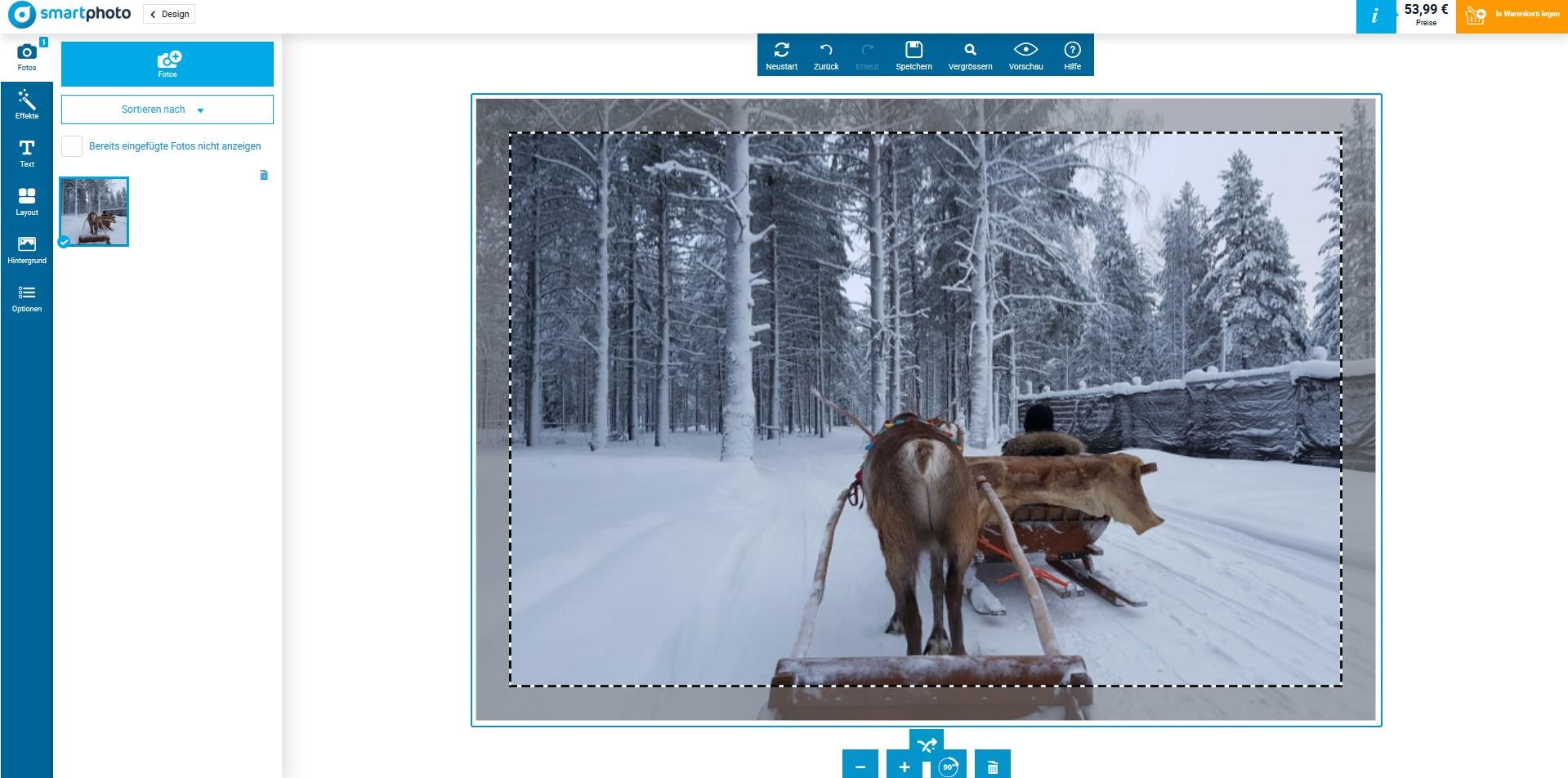 Finnland Fotoleinwand online selbst gestalten
