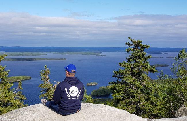 Blick vom Ukko-Koli auf den See Pielinen