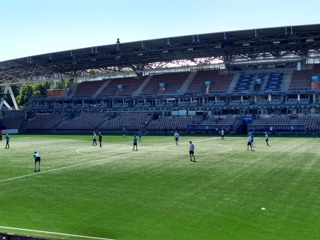 FC Germania Helsinki in der Telia 5G Areena