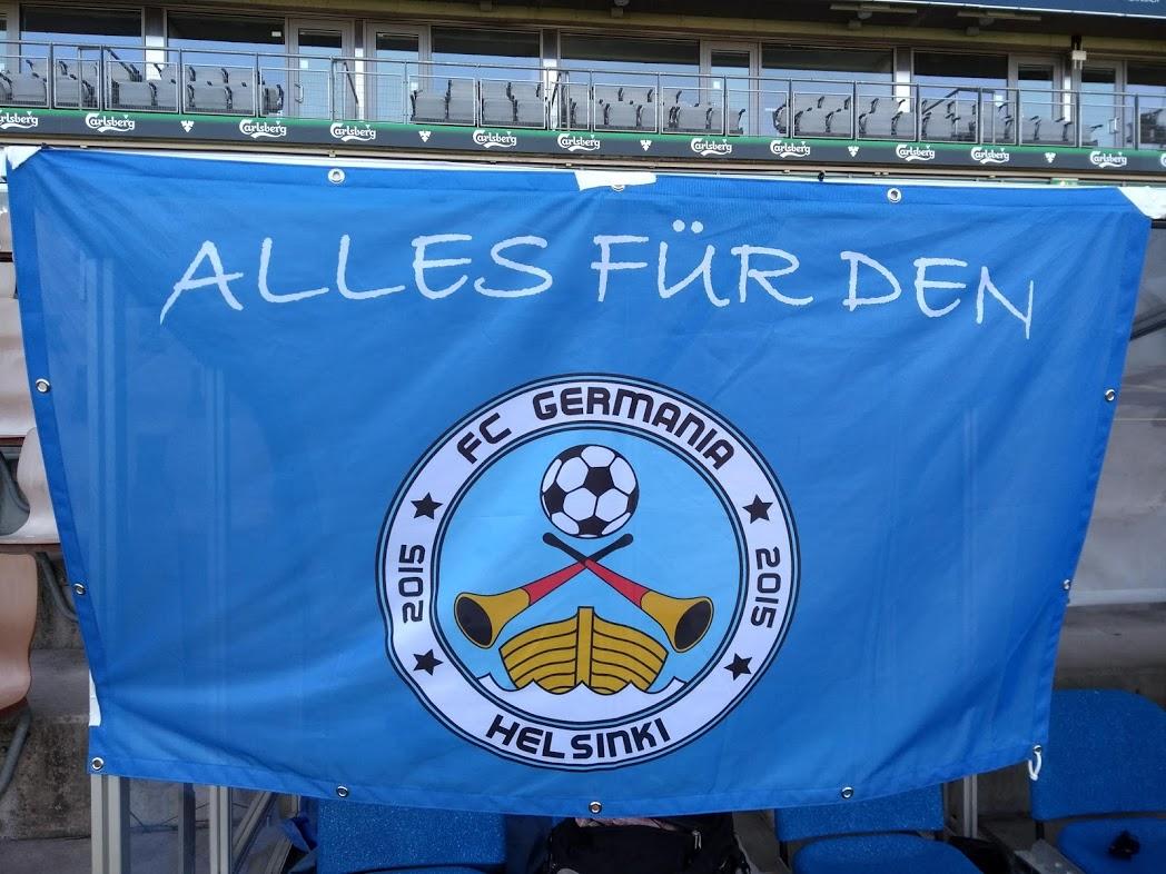 Zahnfahne FC Germania Helsinki