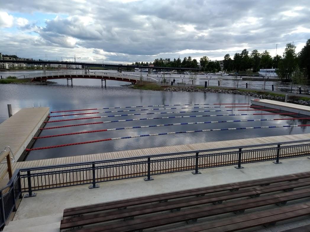 Schwimmbad auf der Insel Ilosaari, Joensuu