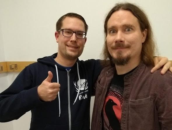 René von FinnTouch trifft Tuomas Holopainen (Nightwish) in Berlin