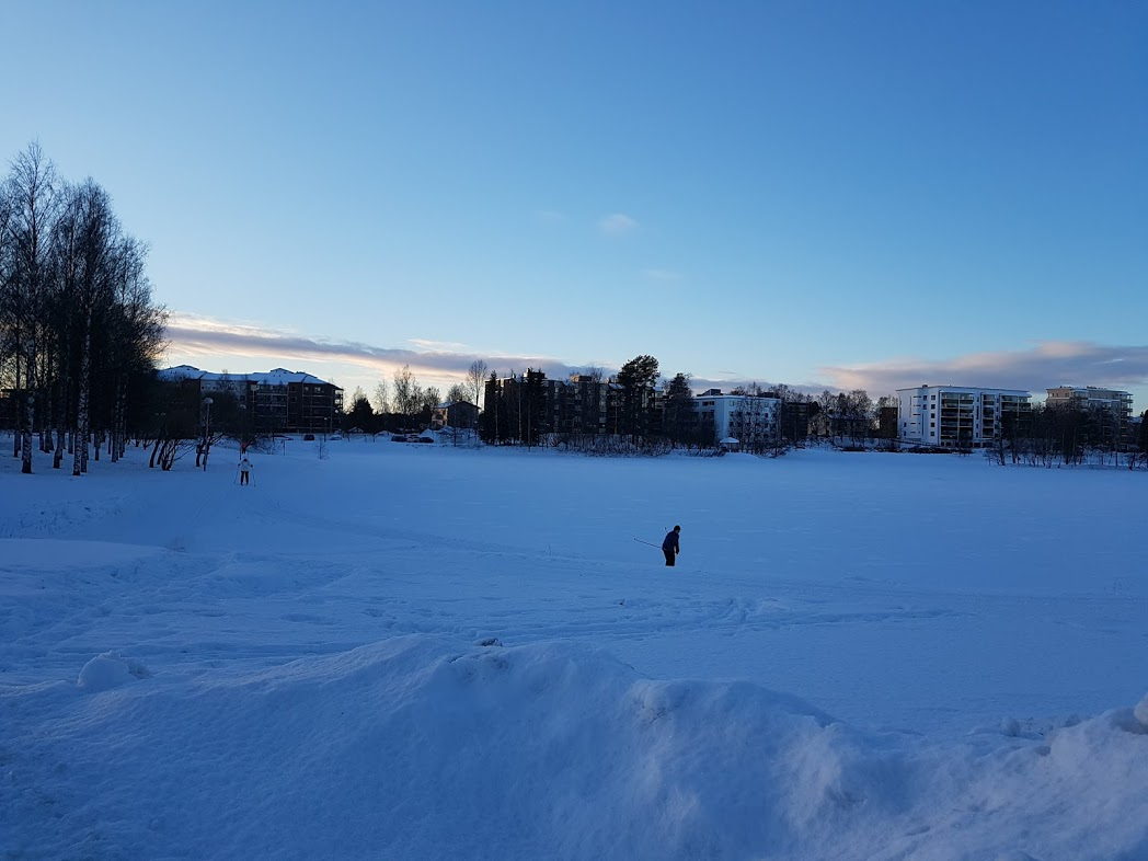 Langlaufloipe in Rovaniemi