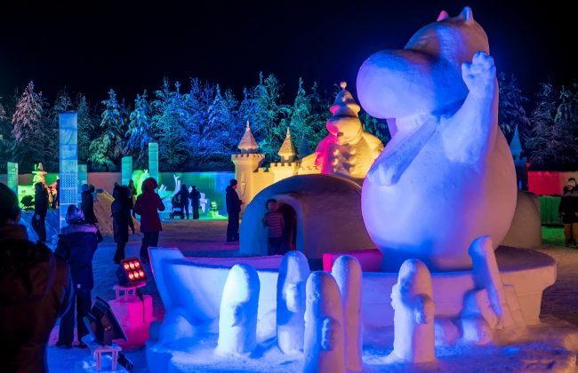 Das Moomin Snowcastle in Rovaniemi