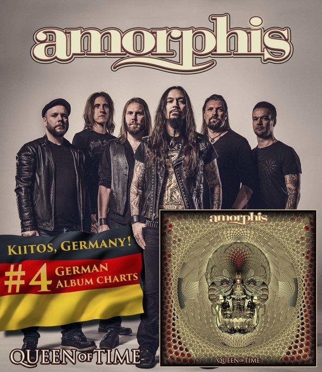 Amorphis auf Platz 4 in den deutschen Charts