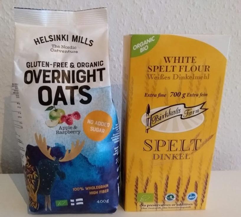Overnight Oats und Dinkelmehl aus Finnland