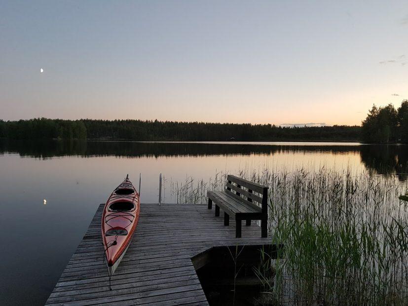 Einer meiner liebsten Herzensorte in Finnland - der Steg am Mökki