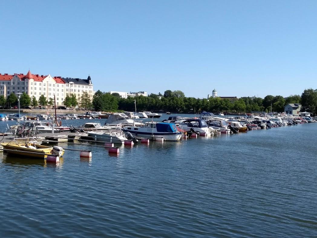 Blick auf den Dom von Helsinki von Kallio aus