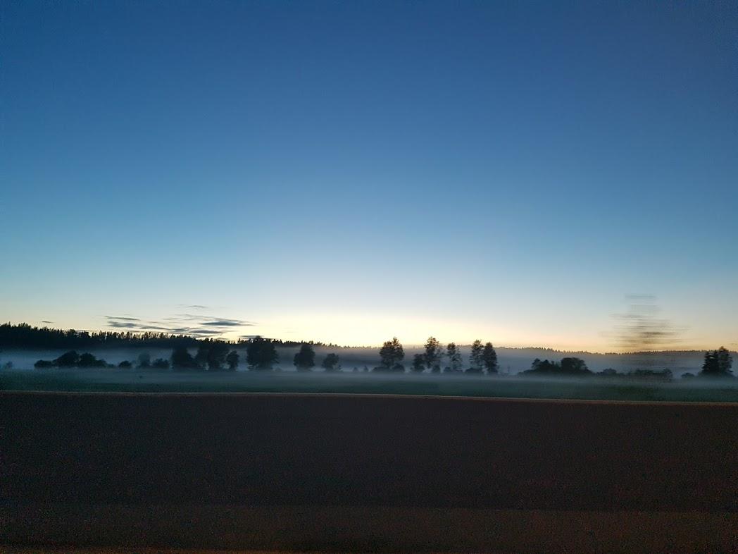 Nebel steigt auf über Finnland