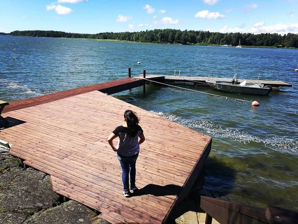 Steg am Wasser in Finnland