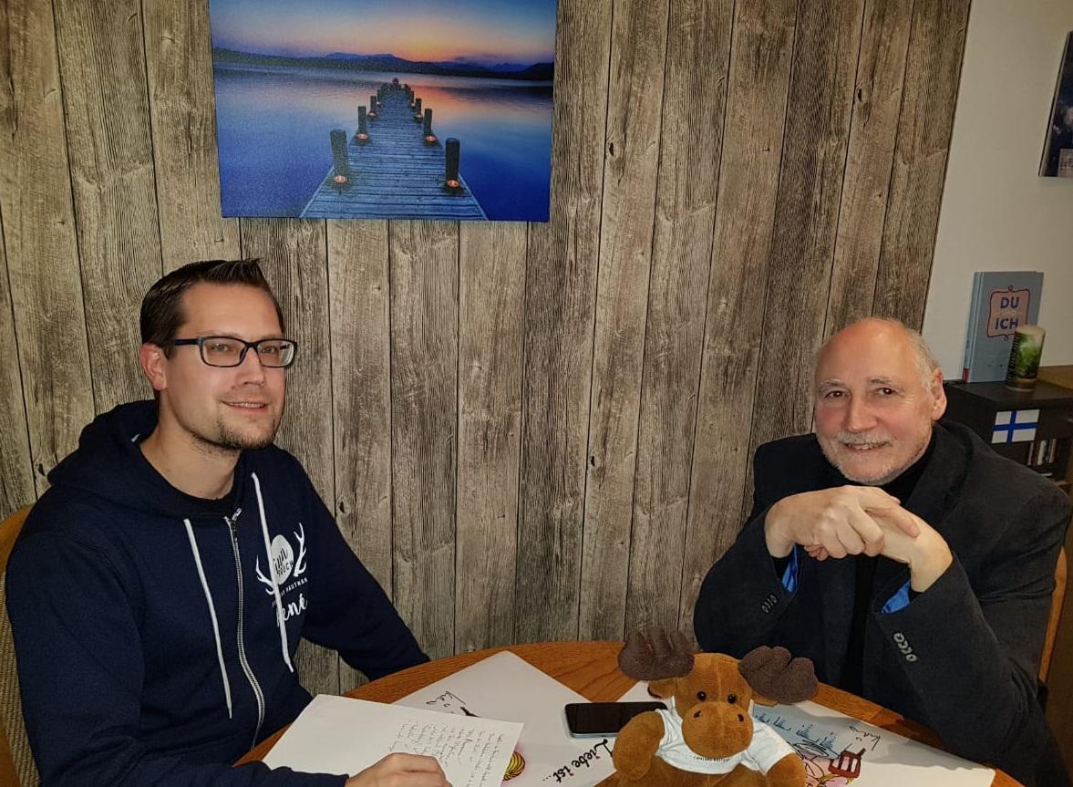 Autor Eberhard Apffelstaedt zu Gast bei FinnTouch