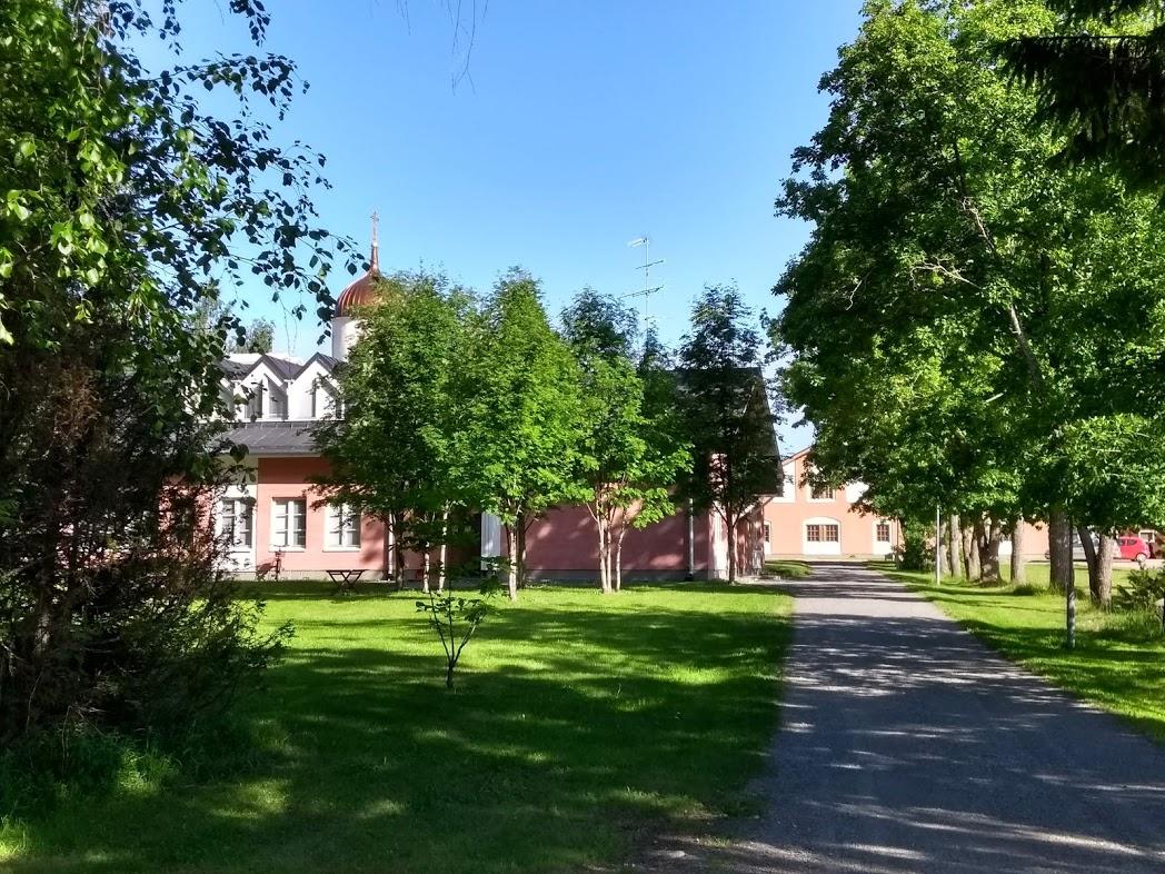 Weg zum Kloster Uusi Valamo