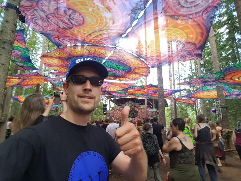 René beim Kosmos Festival in Ristiina
