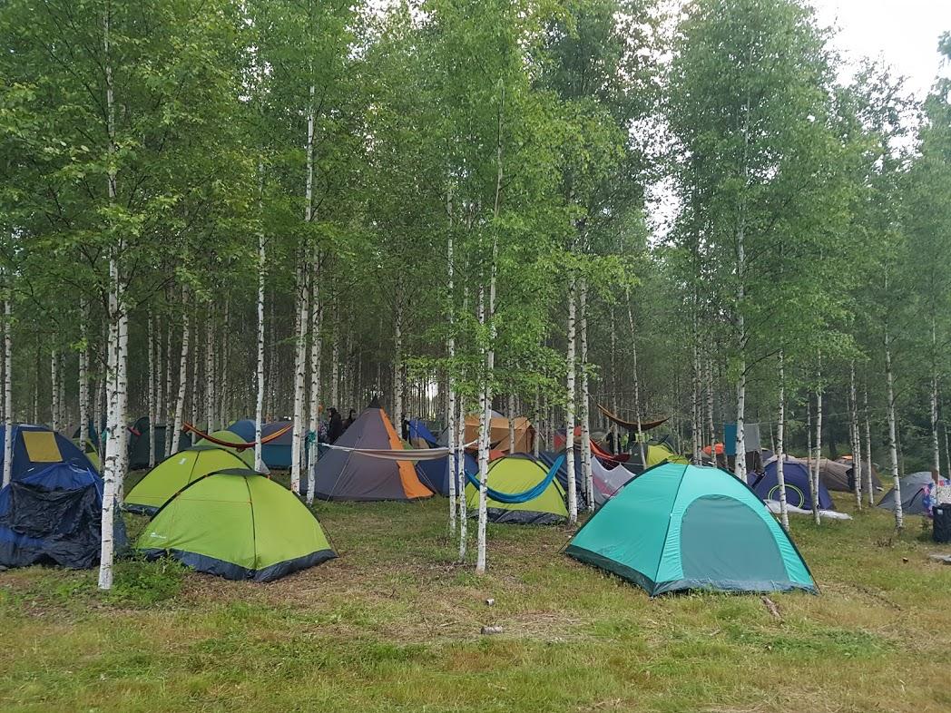 Zeltplatz beim Kosmos Festival
