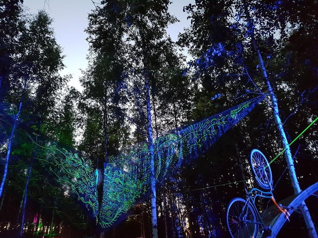Kunstinstallationen beim Kosmos Festival