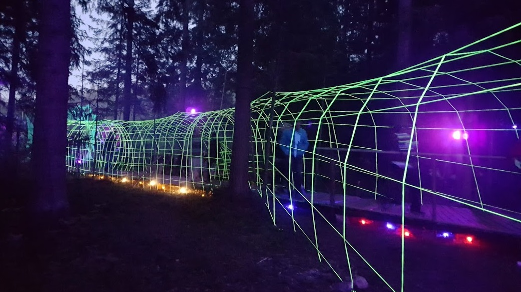 Tunnel beim Kosmos Festival