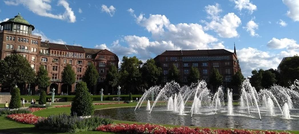 Mannheim, Park am Wasserturm