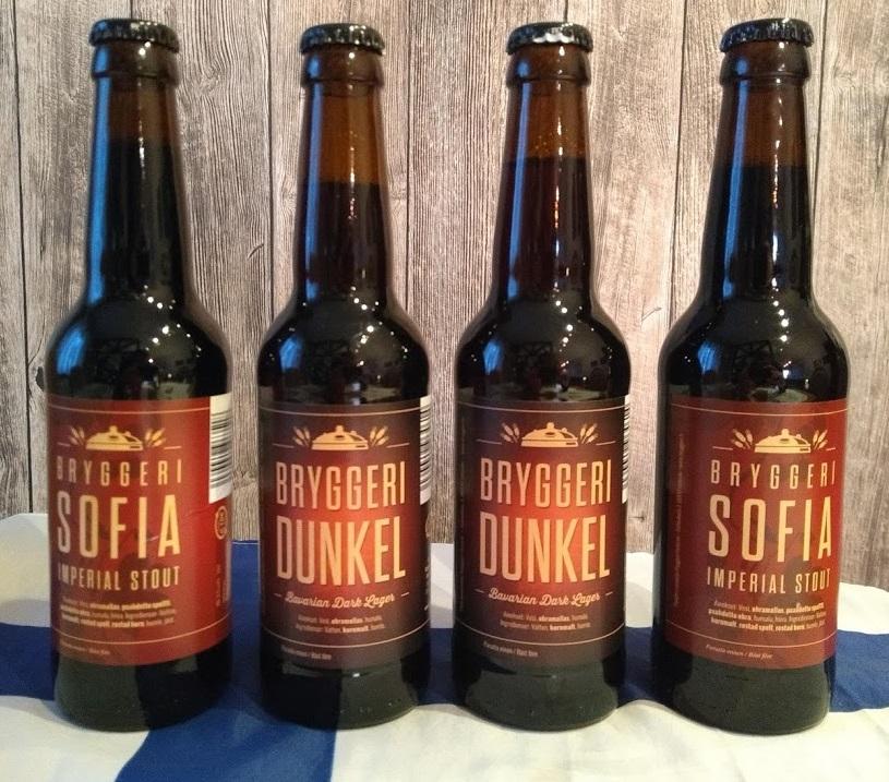 Bryggeri Sofia und Bryggeri Dunkel Biere