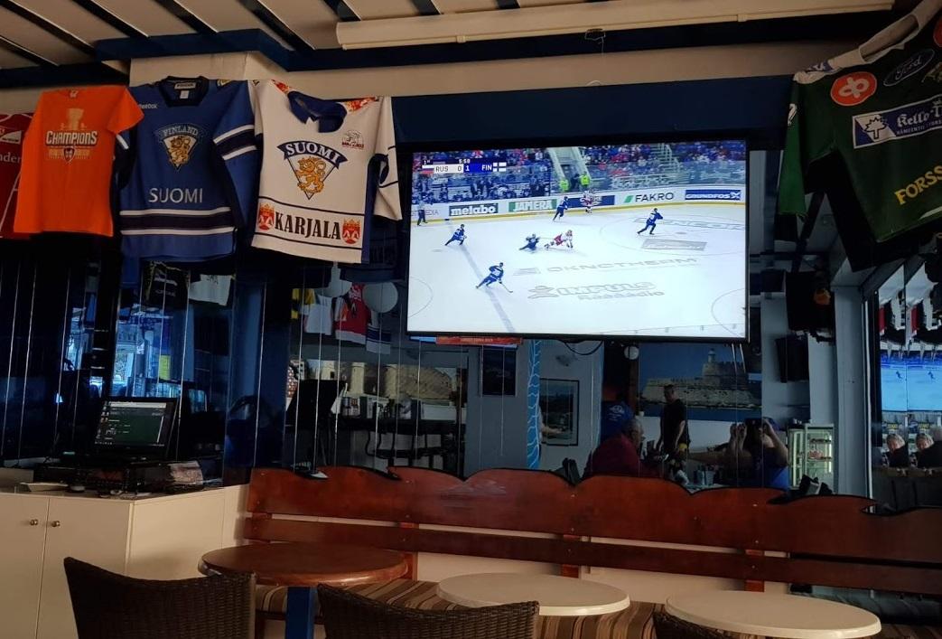 Eishockey Liveübertragung im Demis Restaurant