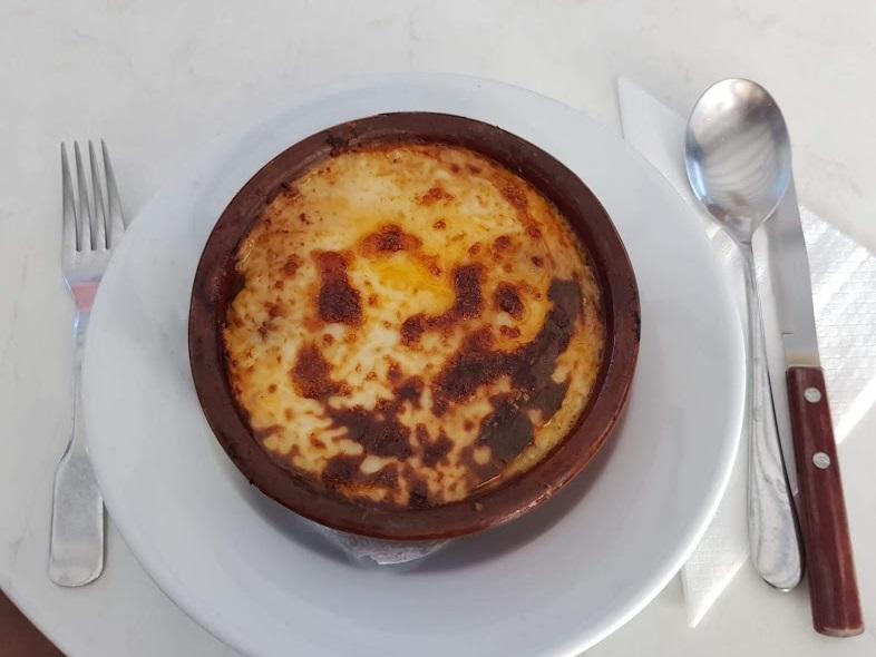 Moussaka im Demis Restaurant Rhodos