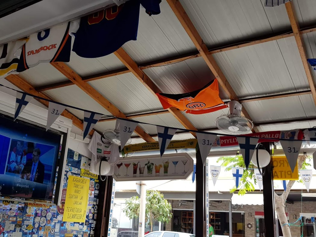 Innenbereich des Demis Restaurant auf Rhodos