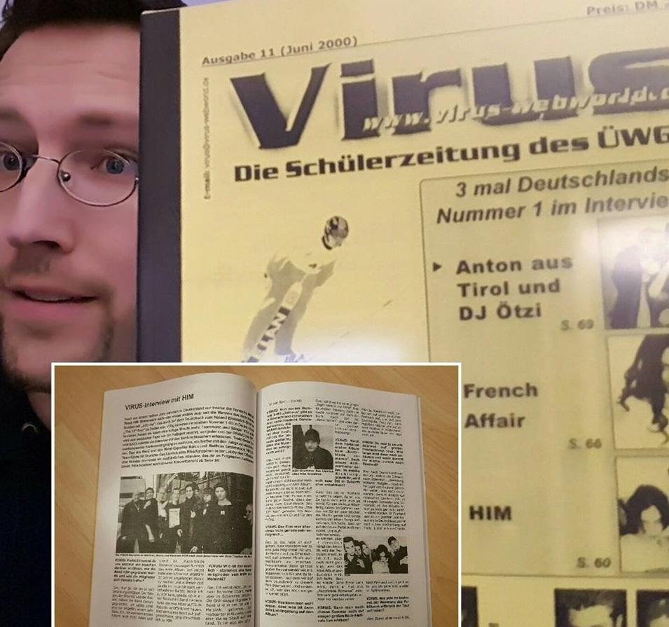 Schülerzeitung aus dem Jahr 2000