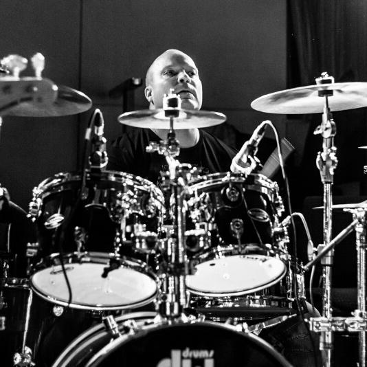 Drummer Aki Lusenius (The G. Rock Band)