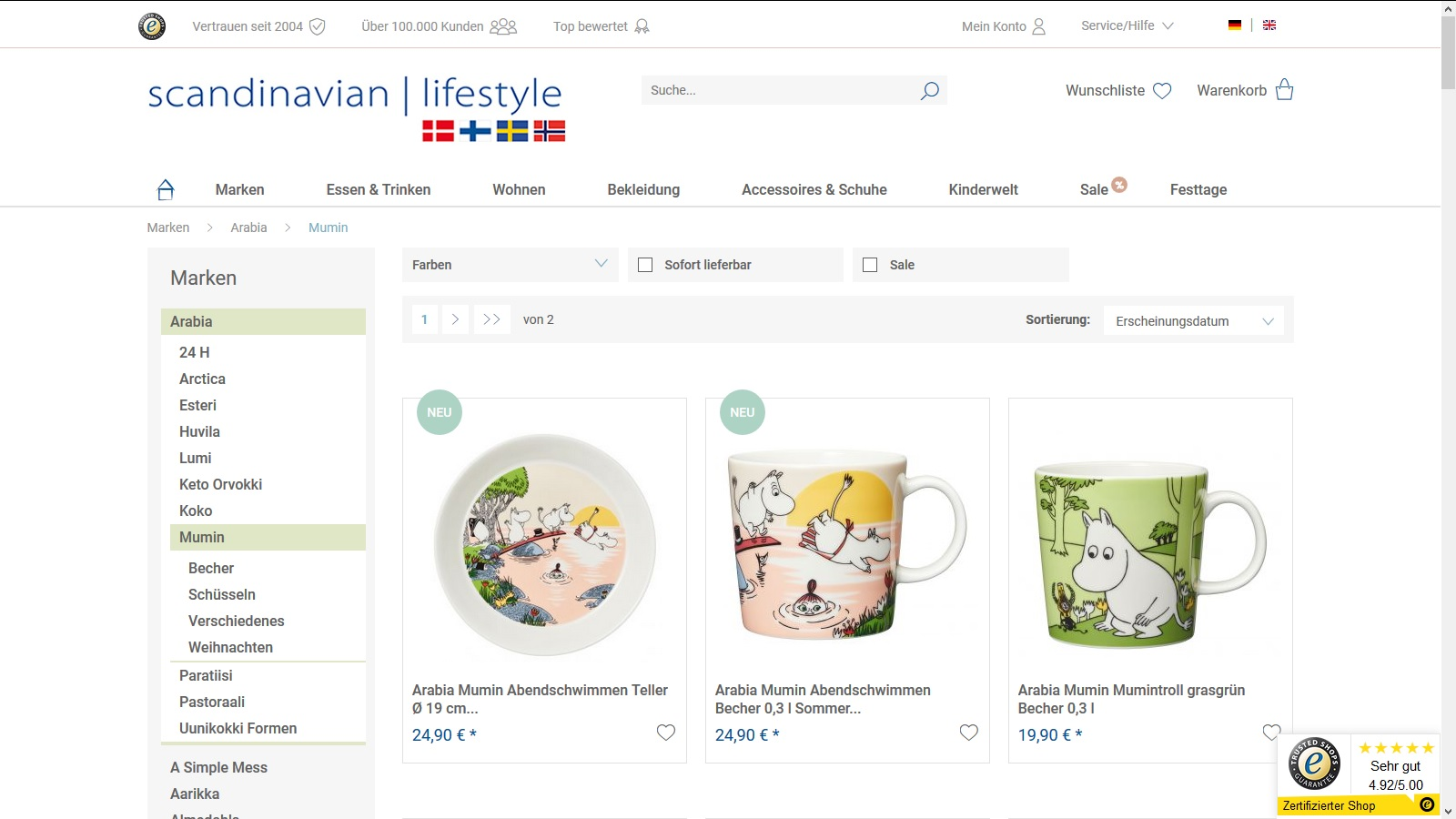scandinavian-lifestyle Onlineshop