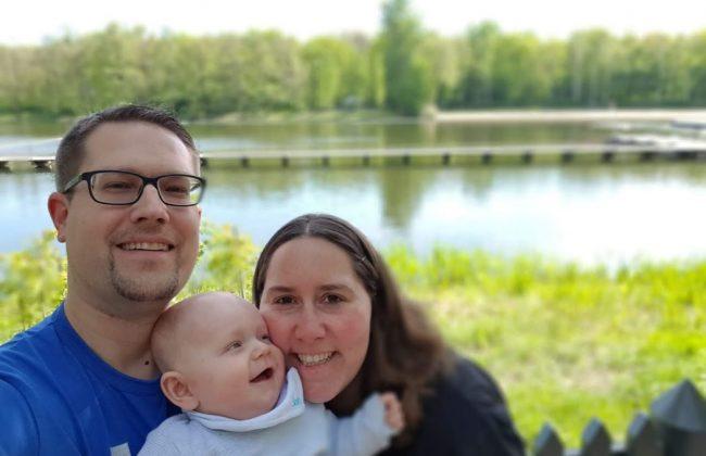 Kleiner Viertelfinne und seine Eltern