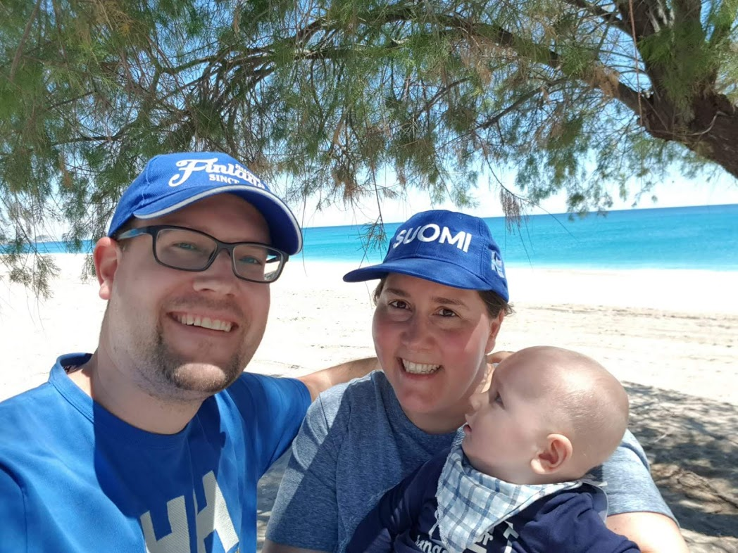 Familienbild am Strand