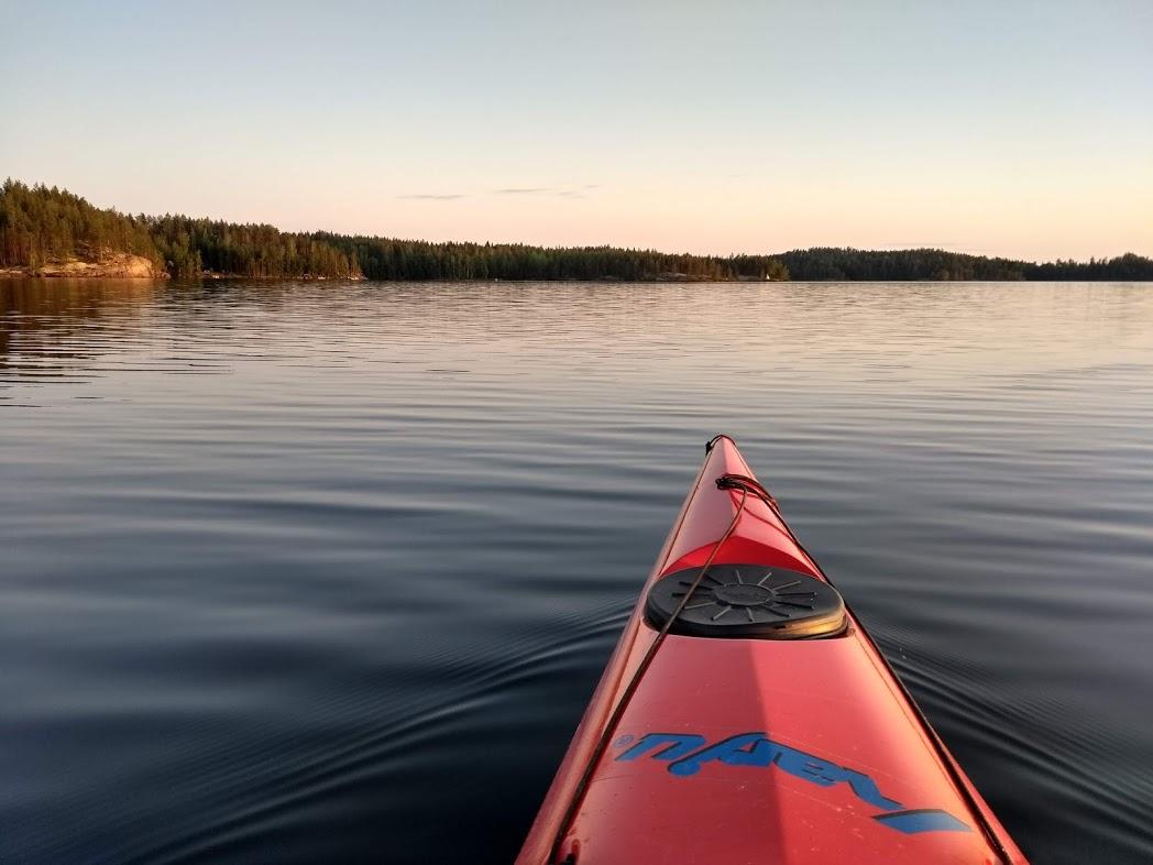 Abendstimmung auf dem See Puula