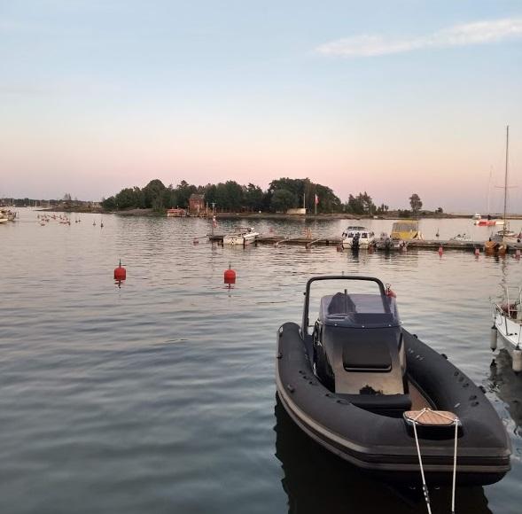 Blick zur Insel Uunisaari, Helsinki