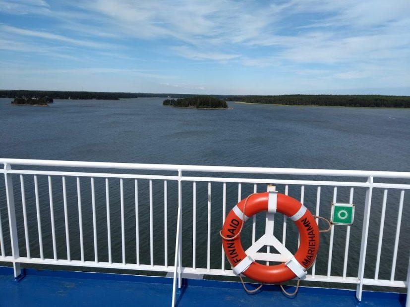 Abschied aus Finnland auf dem Seeweg