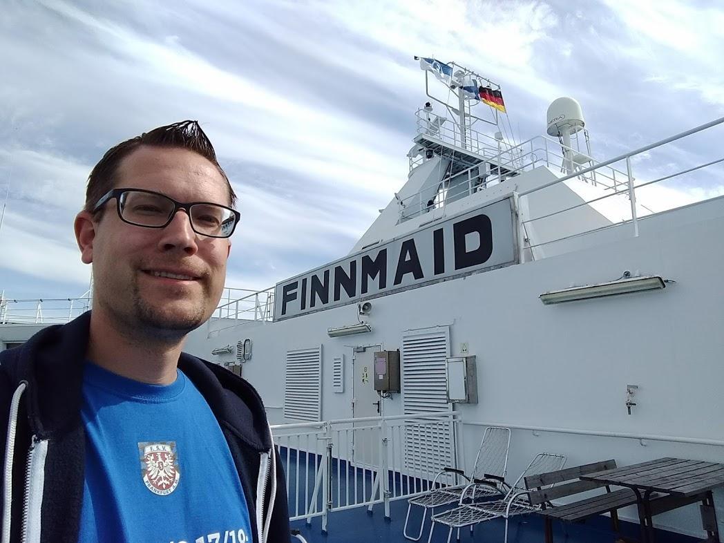FinnTouch-René auf der Fähre von Helsinki nach Travemünde