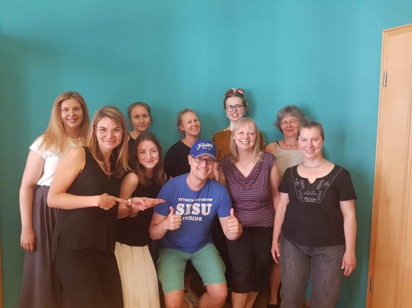 Das Team des Finnland-Institut in Deutschland zusammen mit Finnlandblogger René Schwarz