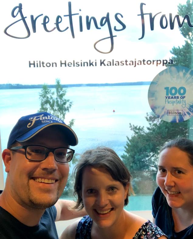 Das FinnTouch-Team im Hilton Helsinki Kalastajatorppa